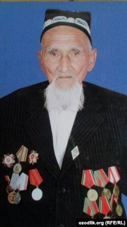 93 yoshli G'ulomjon Soliev 1941 yilda Moskva ostonasidagi janglarda qatnashgan.