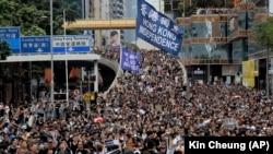 Гонконгтағы шеру. 7 шілде, 2019 жыл.