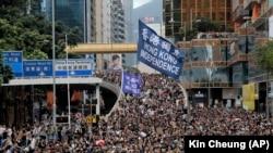 Протестующие в Гонконге, 7 июля 2019 года.
