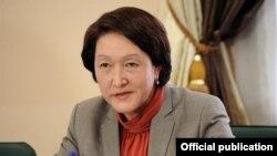Qirg'iziston MSK raisasi Nurjan Shayldabekova.