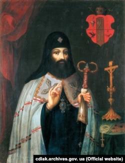 Петро Могила (31 грудня 1596 – 1 січня 1647) – український політичний, церковний і освітній діяч. Митрополит Київський, Галицький і всієї Русі (1632–1647). Архімандрит Києво-Печерського монастиря (з 1627 року)