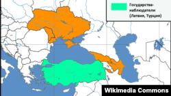 GUAM-ın xəritəsi