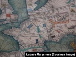 Фрагмент Каталанского атласа – карты мира, нарисованной в 1375 году