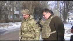 Литовський міністр «став очевидцем порушень Мінських угод із боку сепаратистів» в Авдіївці (відео)