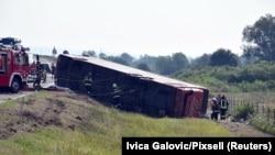 Fotografi e aksidentit me autobus në Kroaci