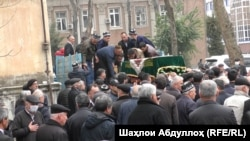 Церемония прощания с Фотимой Гулямовой. Душанбе, 2 марта 2021 года