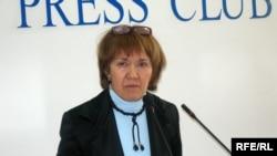 Шолпан Аблязова проводит свою пресс-конференцию. Алматы, 10 марта 2009 года.