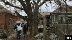 Спостерігачі ОБСЄ в Широкині, архівне фото