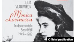 """Detaliu de pe coperta volumului """"Monica Lovinescu în documentele Securității. 1949-1989"""", de Iulia Vladimirov"""