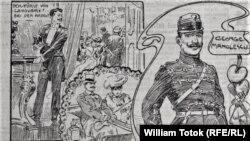 """Georges Manolescu, desen din """"Illustrierte Kronen Zeitung"""" 24. 5. 1906, p. 1"""