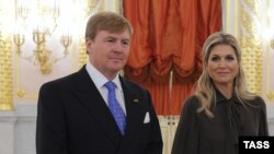 Виллем-Александр и его жена Максима
