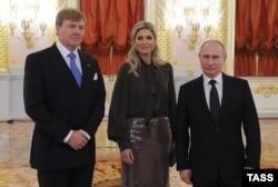 Король Нидерландов Виллем-Александр и его супруга, королева-консорт Максима в гостях у Владимира Путина