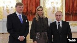 Король Нидерландов с супругой и президент России