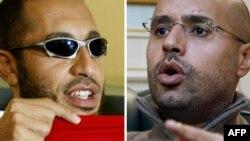 Синовите на Моамер Гадафи - Саиф ал-Ислам и Саади.