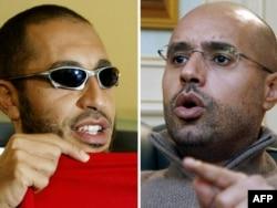 Сини Каддафі – Сааді (зліва) і Сейф аль-Іслам. Фото з інтерв'ю AFP у лютому 2011 року