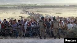 Սիրիայից փախստականները Թուրքիայի սահմանին, 18-ը սեպտեմբերի, 2014թ․