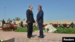 Президенты Узбекистана и России Шавкат Мирзияев и Владимир Путин. Самарканд, 6 сентября 2016 года.