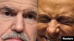 Հրաժարական ներկայացրած Հունաստանի վարչապետ Գեորգիոս Պապանդրու (ձ) եւ Իտալիայի վարչապետ Սիլվիո Բերլուսկոնի