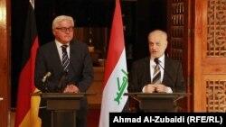 المؤتمر الصحفي لوزير خارجية المانيا شتاينماير ونظيره العراق الشهرستاني