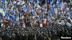 Сутички під Верховною Радою. Київ, 31 серпня 2015 року