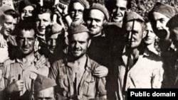 Отряд бойцов Интернациональных бригад в Испании. 1937 год