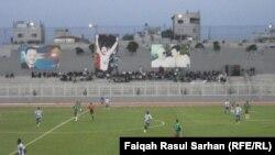جانب من مباراة نادي الطلبة العراقي والوحدات الاردني