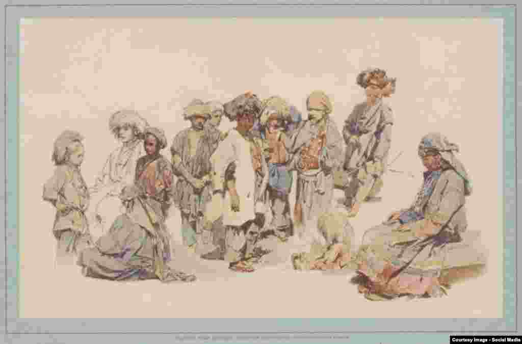 Чеченські діти й жінка. Т. Горшельт