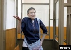 Надія Савченко під час засідання суду у Донецьку Ростовської області. 21 березня 2016 року