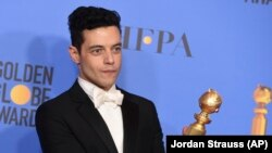 Rami Malek, fitues i Çmimit për Aktorin më të Mirë në Golden Globe.
