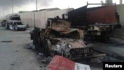 Իրաք - Այրված ավտոմեքենաներ Մոսուլում մարտերից հետո, Մոսուլ, 10-ը հունիսի, 2014թ․