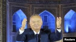 File photo of Uzbek President Islam Karimov.