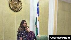 O'zbekistonning birinchi prezidenti Islom Karimovning turmush o'rtog'i Tatyana Karimova va qizi Lola Karimova-Tillaeva Oqsaroyda.