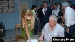 Гульнара Каримова и актер Мурад Раджабов.