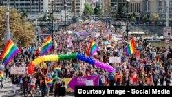 Fotografie din pagina de Facebook a comunității Prague Pride.