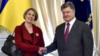 U.K. Ambassador Judith Gough with President Petro Poroshenko (file photo)