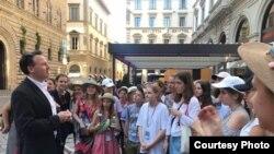 Учасники хору на екскурсії у Флоренції, липень 2018 року