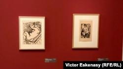 """Gravuri de Matisse, în stg. """"Le Grand Bois"""" 1906, din colecția Kunsthalle Mannheim"""