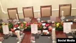 Сервировка обеда Путина с Тарьей Халонен, источник - взломанная почта Пригожина