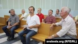 Аляксандар Мех у судзе, падчас першага разгляду справы. 16 жніўня 2017 году