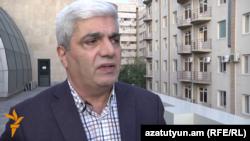 Armenia -- Political analyst Stepan Grigorian speaks to RFE/RL, 12Oct2015