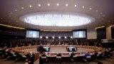 Krerët e shteteve anëtare gjatë samitit të NATO-s në Bruksel më 14 qershor 2021.