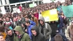Протест на средношколците во Скопје