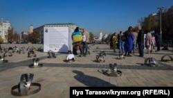 Kyivdeki «Kreml esirleri» aktsiyası, 2019 senesi oktâbrniñ 15-i