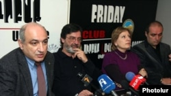 Armenia -- Members of the People's TV Board of Trustees at a press conference. 06Dec2010