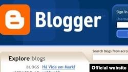 Один из популярных блогов: Blogger.com