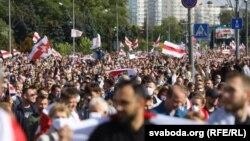 Пратэставы марш у Менску 13 верасьня