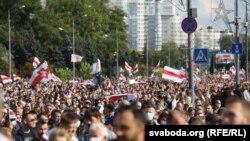 """""""Марш героев"""" в Минске, 13 сентября 2020 года"""
