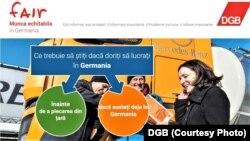 Uniunea Sindicatului German (DGB) informaţii în limba română