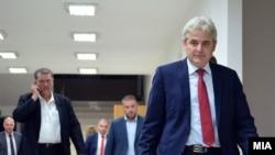 Претседателот на Демократската унија за интеграција Али Ахмети