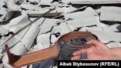 Кыргыз-тажик чек арасындагы жаңжалдан кийинки көрүнүш. Октун калдыктары.